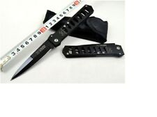 Black Tactic Survival Camping Collect Pocket Folding Hunting Knife 902