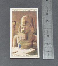 CHROMO 1926 WILLS CIGARETTE CARD EGYPTE EGYPT ABU-SIMBEL