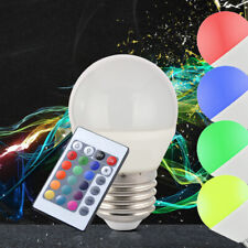 LED 5W E27 bulb RGB remote control incandescent lamp 400lm color change dimmable