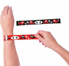 12 Ninja Slap Bracelets Kid's Birthday Party Favors Prizes Rewards