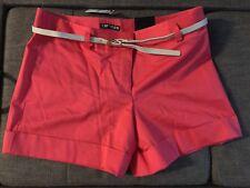 NWT Express Womens Editor Dress Shorts sz 4 Pink Cuffed Hem discontinued