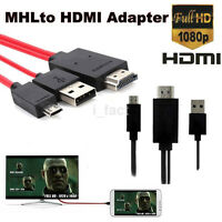 1X MHL Micro USB to HDMI 1080P HD TV Cable Adapter for Universal Android Phones