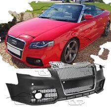 FRONT BUMPER FOR AUDI A4 B7 8E 04-08 RS LOOK BODY KIT CHROME GRILL WITH PDC