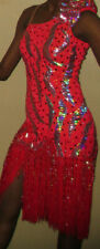 Red Latin  Compeition dress XS/S