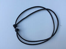 Real Leather Brown Double Cord Adjustable Choker Necklace Unisex Handmade