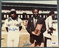 Lou Brock With Ron LeFlore Signed AUTOGRAPHED 8 x 10 Photo PSA DNA Cardinals
