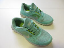 Women's NIKE 'Free Run 3' Sz 8.5 US Runners Teal White VGCon | 3+ Extra 10% Off