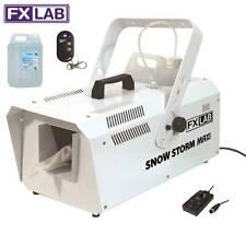 FXLAB 1200 W tempesta di neve MAXI NEVE ARTIFICIALE Festa Effetto Machine & Liquido da 5 LITRI