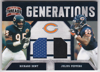 2011 Panini Threads Generations Material Richard Dent Julius Peppers Jersey /299