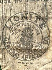 Antique Feed Sack Bag Grain Farming Vintage LOIN Great Graphics Niagra Falls