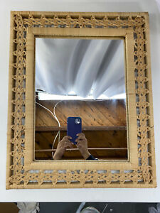 Rattan Frame Wall Mounted Mirrors For Sale In Stock Ebay