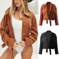 Women's Long Sleeve Corduroy Jacket Autumn Winter Jacket Fashion Joker Jacket