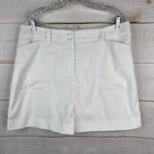 Nike Golf Dri-Fit Skort Women's 14 White Shorts/Skirt Active Pockets