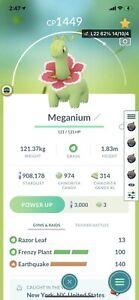 Pokémon Go Frenzy Plant Meganium , 3 Moves , Great League Pvp , Level 22