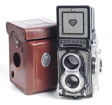 Défectueux ROLLEIFLEX f3.5 T gris avec 75 mm Carl Zeiss Tesser Lens (4675 g)