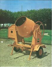 Equipment Brochure - Robur BL20 et al Betonniere Cement Mixer FRENCH lang(E4476)