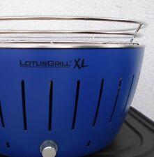 LotusGrill XL Holzkohlegrill, Blau, wie neu inkl. Zubehör-Set