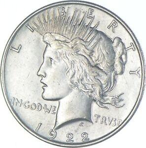 Choice AU/UNC 1922 Peace Silver Dollar - 90% Silver *002