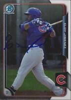 Eloy Jimenez Chicago Cubs 2015 Bowman Chrome Signed Card