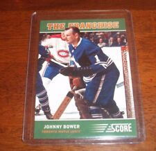JOHNNY BOWER - SIGNED - 2012-13 Score The Franchise #3 Card *Autographed* Leafs