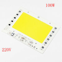 Driverless Smart IC Beads Lamp AC 220V 100W White High Power Cob LED Chips DIY