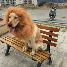Pet Costume Lion Mane Wig For Dog Big Dogs Hair Halloween Fancy Dress Up Party