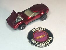 Torero mattel hot wheels custom model car & tin badge 1968 hong kong redline toy