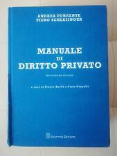 MANUALE DI DIRITTO PRIVATO TORRENTE SCHLESINGER GIUFFRÈ EDITORE 22 EDIZIONE VENT