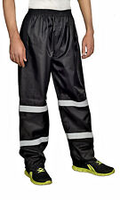 Mens Rain Pants 100%Waterproof Reflective Stripes for night time visibilityRP1-2