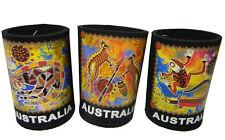 3 Australian Souvenir Aboriginal Indigenous Art Stubby Can Holder Cooler #2