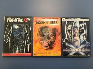 LOT of 3 FRIDAY THE 13TH DVD Horror Lot Halloween SHIPS FREE! Low Price