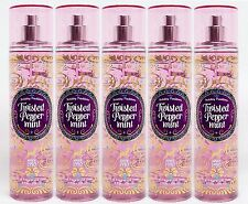 5 Bath & Body Works TWISTED PEPPERMINT Fine Fragrance Body Mist Spray