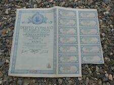 1934 Kingdom of Italy PUBLIC DEBT Bond Stock certificate