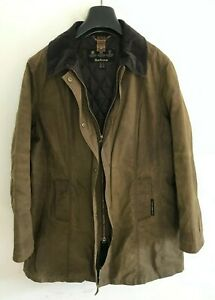 Womens Barbour Belsay Jacket Coat size 16/18 L/XL Brown Wax Cotton Trench #3 Mac