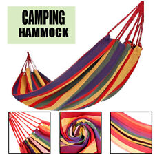 Cotton Hammock Sleep Travel Cotton Rope Hanging Hammock Swing Camping Canvas Bed