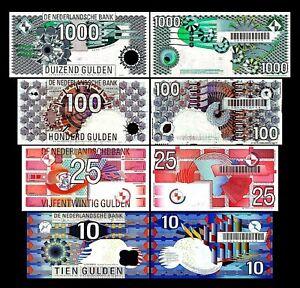 2x 10, 25, 100, 1000 Gulden - Ausgabe 1989 - 1997 - Reproduktion - 001