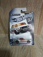 "Hot Wheels #63146 Zamac 1967 Ford Mustang GT ""50th Anniversary"" ©2017 MOCard"