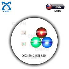 100Pcs 0603 1608 SMD RGB Tri-Color Common Anode Light Lamp SMT LED Chip Diodes