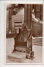 Vintage Postcard The Coronation Chair at Westminster Abbey St Edward's Chair