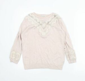 Monsoon Womens Pink   Pullover Jumper Size 10