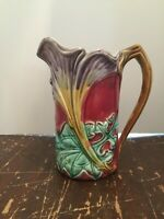 Antique French Majolica Frie Onnaing Art Nouveau Vallauris Pitcher