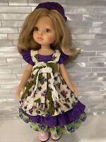 "Handmade Alisewn Original 2 Piece Dress & Knit Hat-Little Darling, Effner, 13"".."