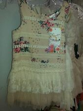 Baby Sara Vintage Floral Lace Tutu Dress Size 2t All Seasons