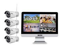 4 KANAL WLAN HD Komplettset Videoüberwachung  4x Überwachungskamera Monitor IR