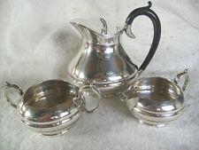 Vintage 1920-30s Art Deco Silver Hot Water Pot,Milk Jug & Sugar Bowl Set,V.G.C.