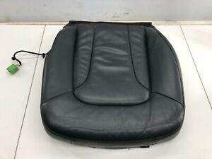 07-15 AUDI Q7 FRONT LEFT DRIVER SIDE LOWER BOTTOM SEAT CUSHION LEATHER BLACK OEM
