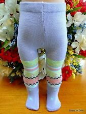 "**SALE** LAVENDER w/ Hearts Flowers DOLL TIGHTS fits 15"" & 18"" AMERICAN GIRL G/Z"
