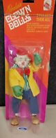 """Horace Hobo Sad Clown Porcelain Cloth Doll 8"""" Vintage Collectible packaging"""