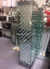 Cristal Espejo & flotante de pie florero, Espejados secado flowervase