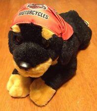 "Harley Davidson Rottweiler Plush Black Dog Bandanna Motorcycle 14"" Rott Rottie"